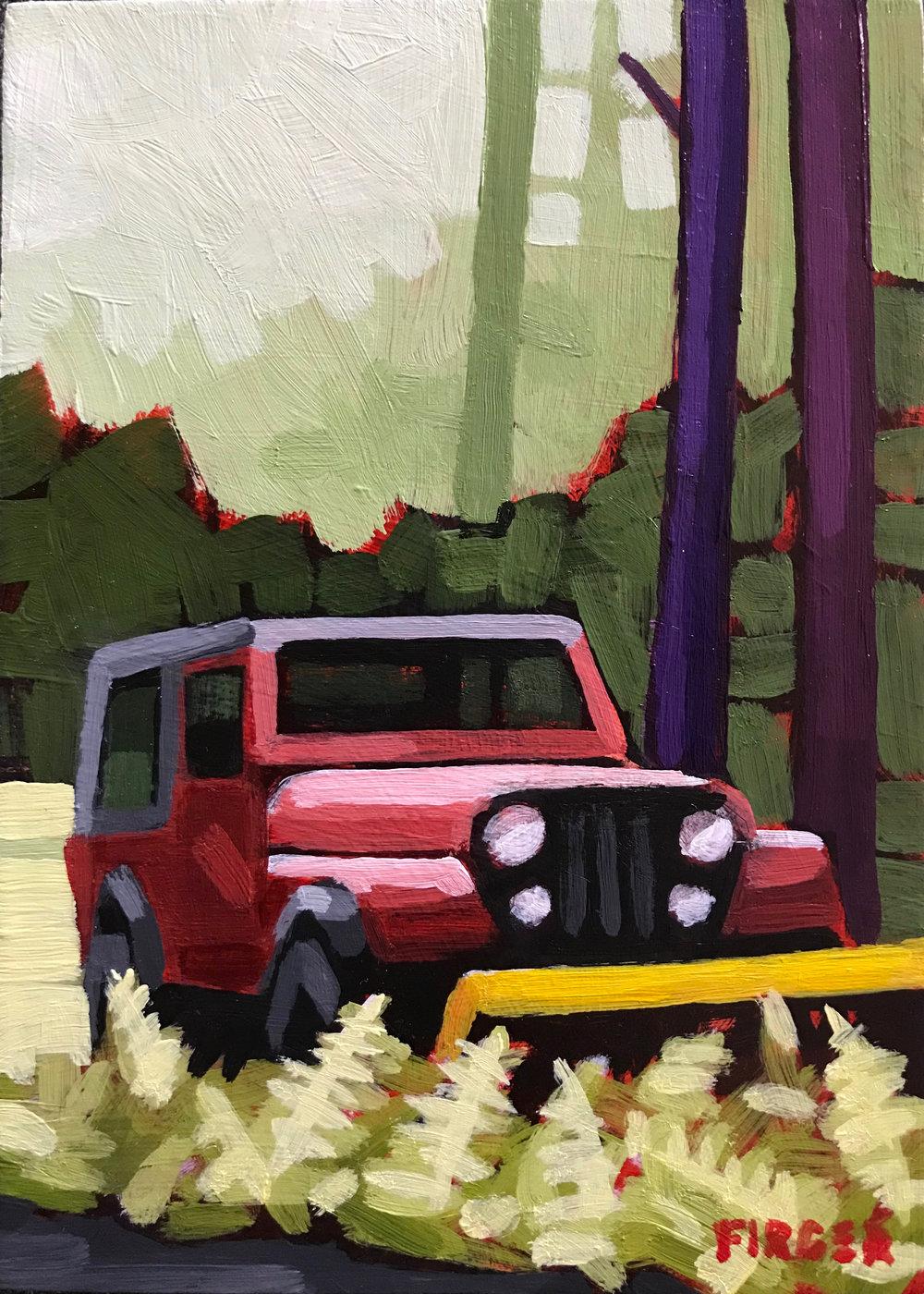 Rainforest Wrangler - 5 x 7, Acrylic on Panel