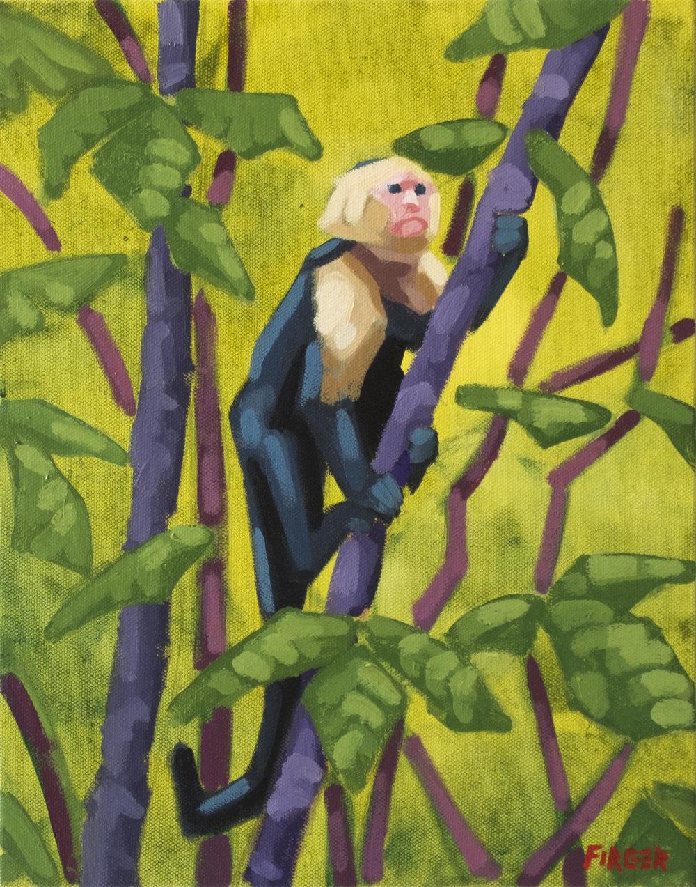 Jungle Climber II - 11 x 14, Acrylic on Canvas
