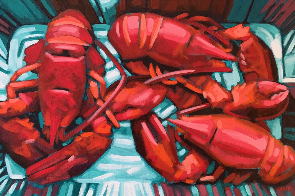 The Main Course - 24 x 36, Acrylic on Canvas
