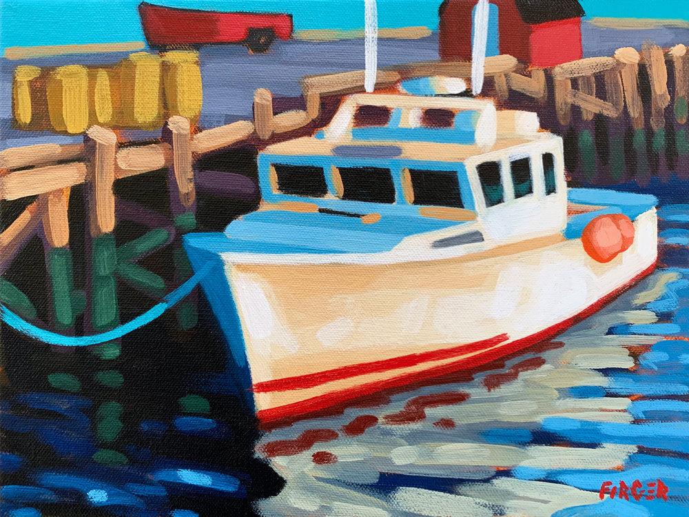 Maritime Sunset - 9 x 12, Acrylic on Canvas