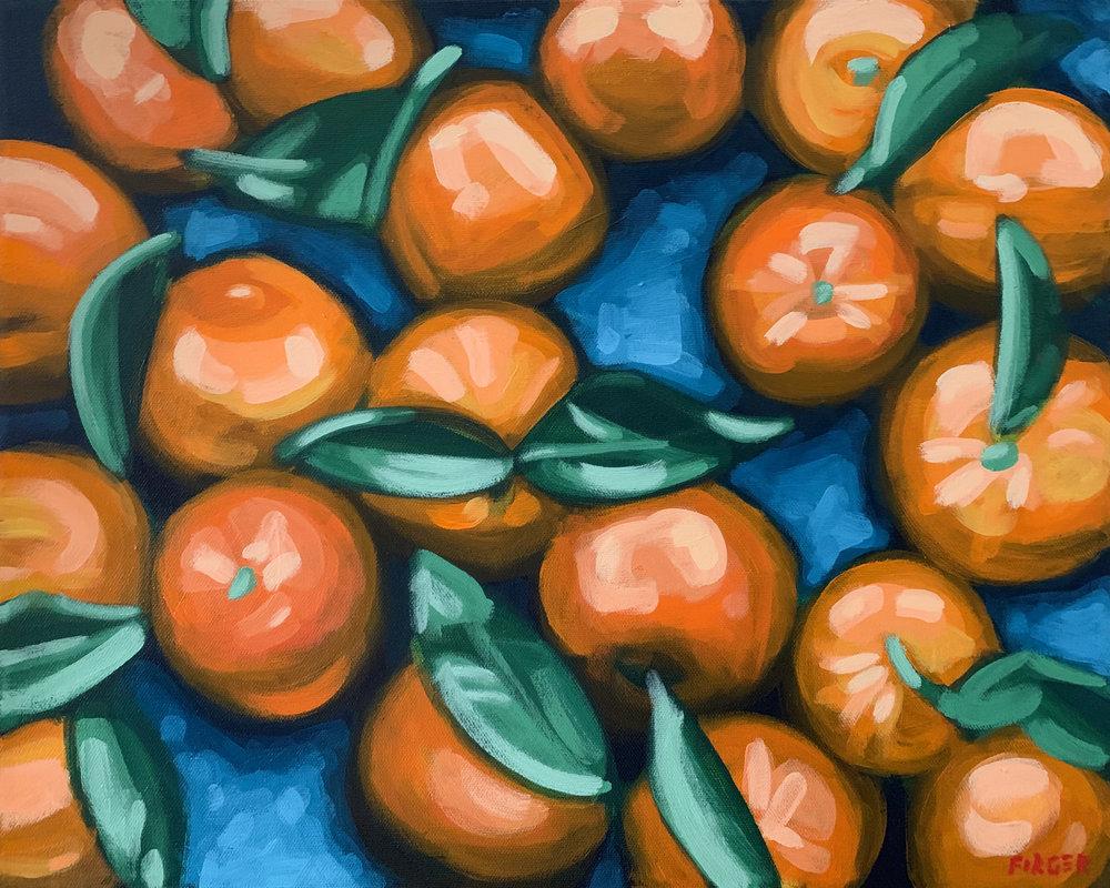 Citrus Bounty - 16 x 20, Acrylic on Canvas