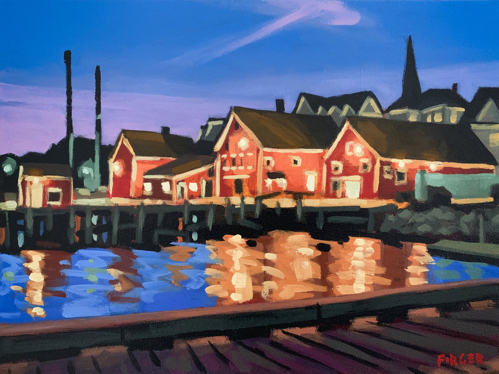 Mid Summer Glow (Lunenburg, NS) - 12 x 16, Acrylic on Canvas