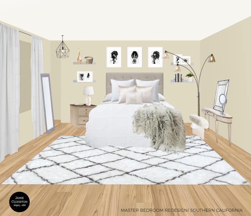 Jamie Clugston Danielle Master Bedroom Redesign Portfolio 2016.png