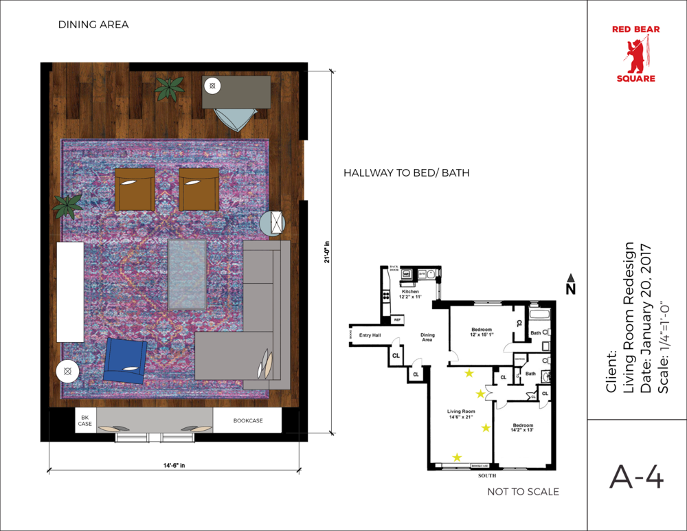 Rendered Furniture Floorplan For Client