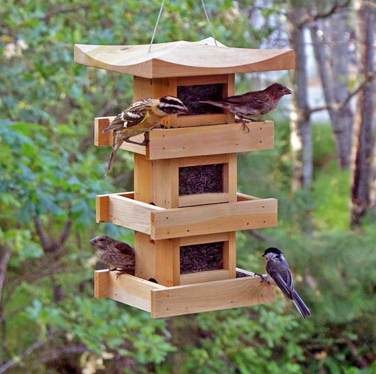 Cedar Pagoda Bird Feeder