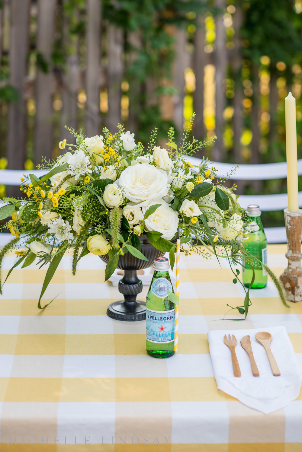 Ideas for a Ladies Fantasy Football Party Ideas | B Floral and Event Design | Michelle Lindsay Photography