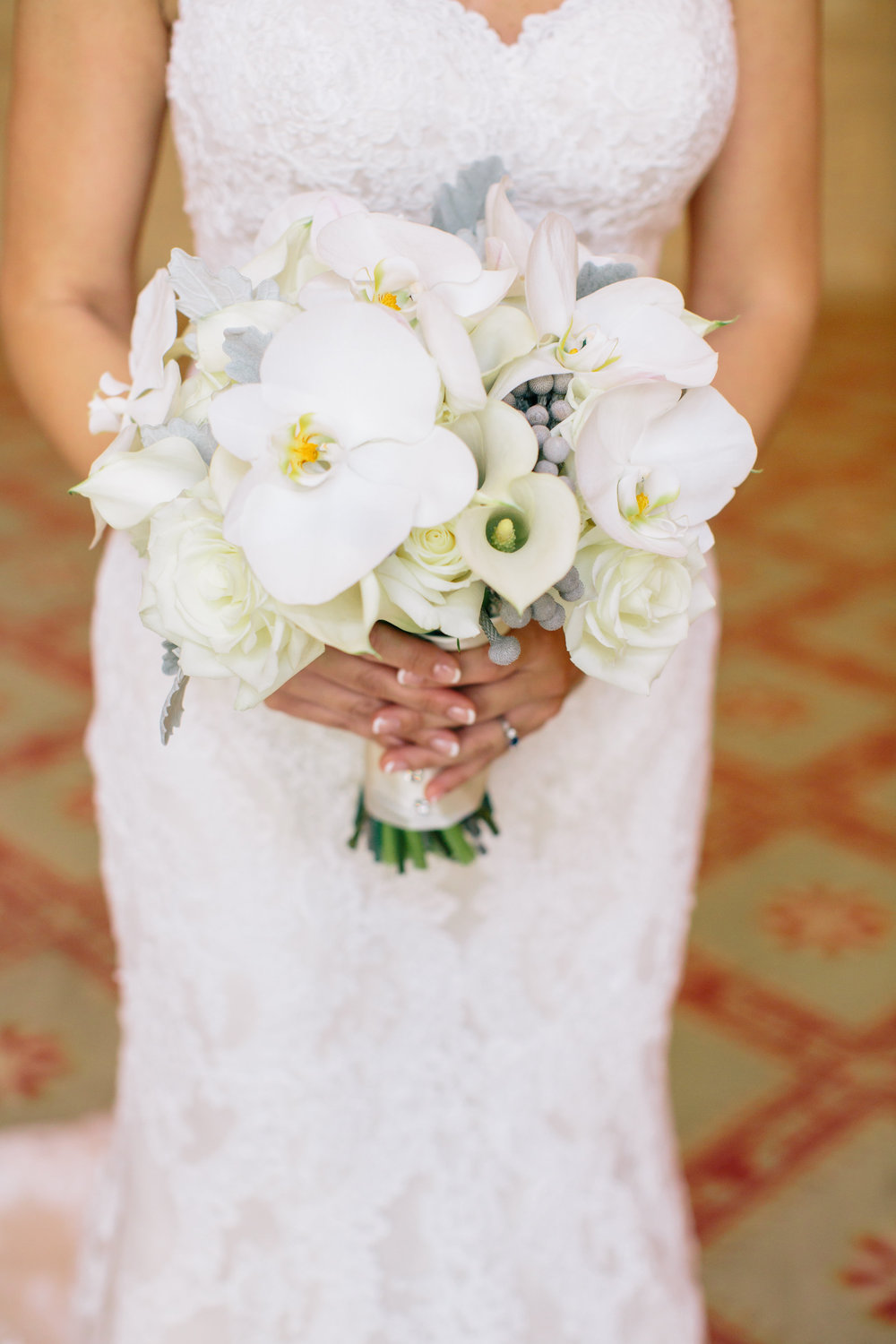 B Floral DC boquet with orchids and calla lilies