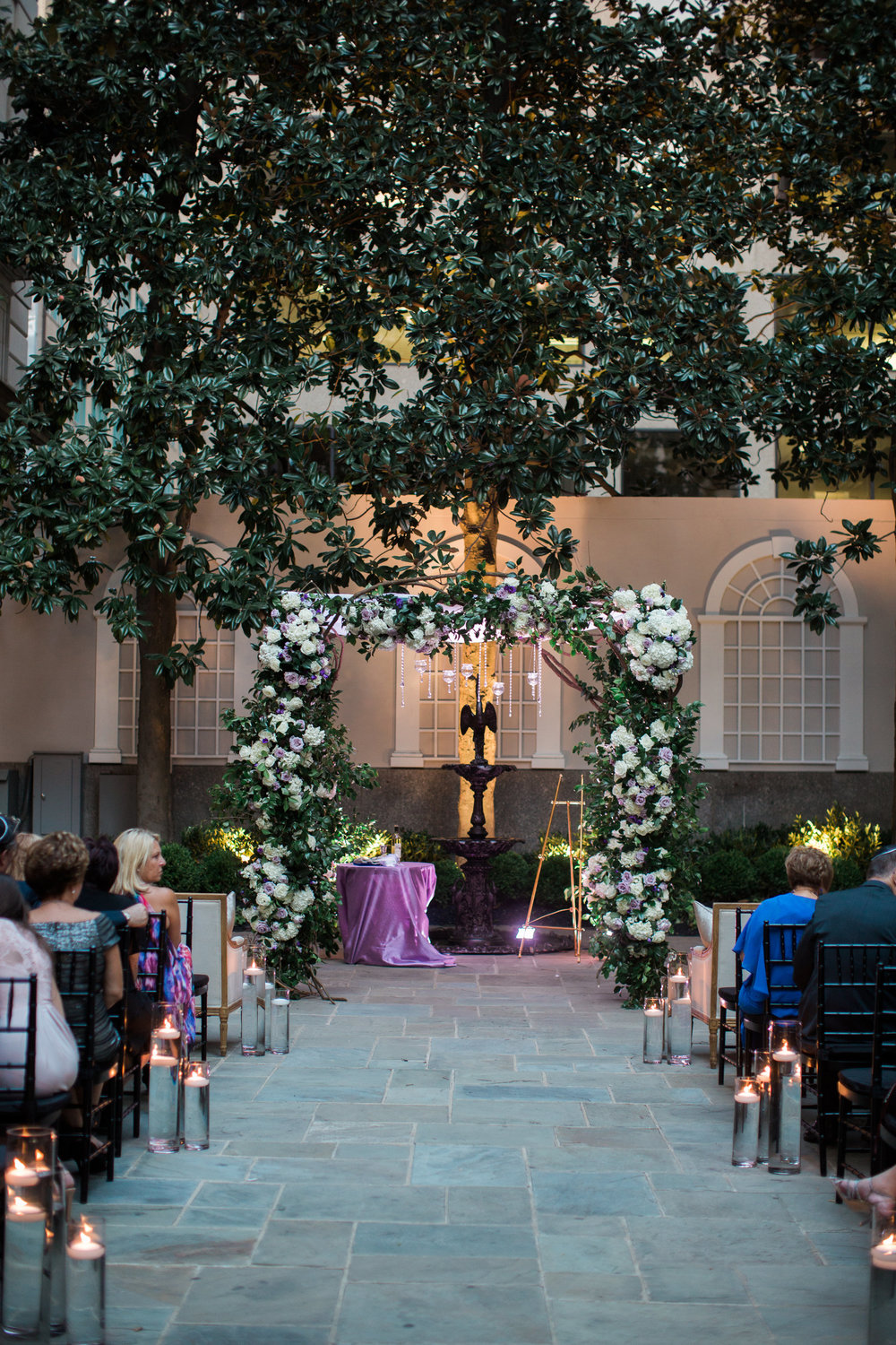 Gorgeous floral chuppah by B Floral DC at the St. Regis DC