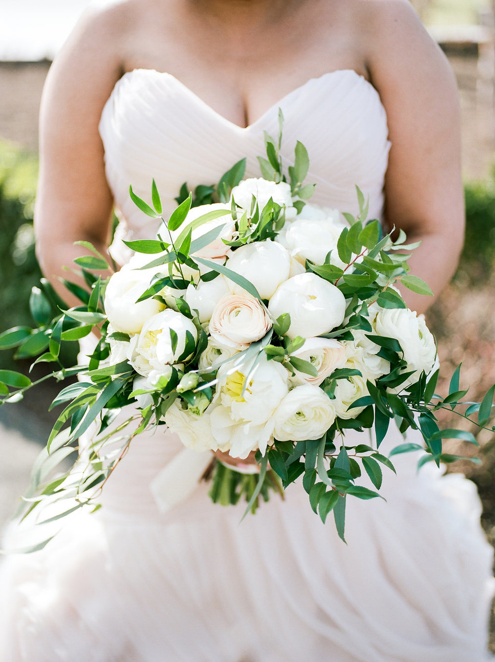 Garden style bouquet with peony and ranunculus by B Floral DC