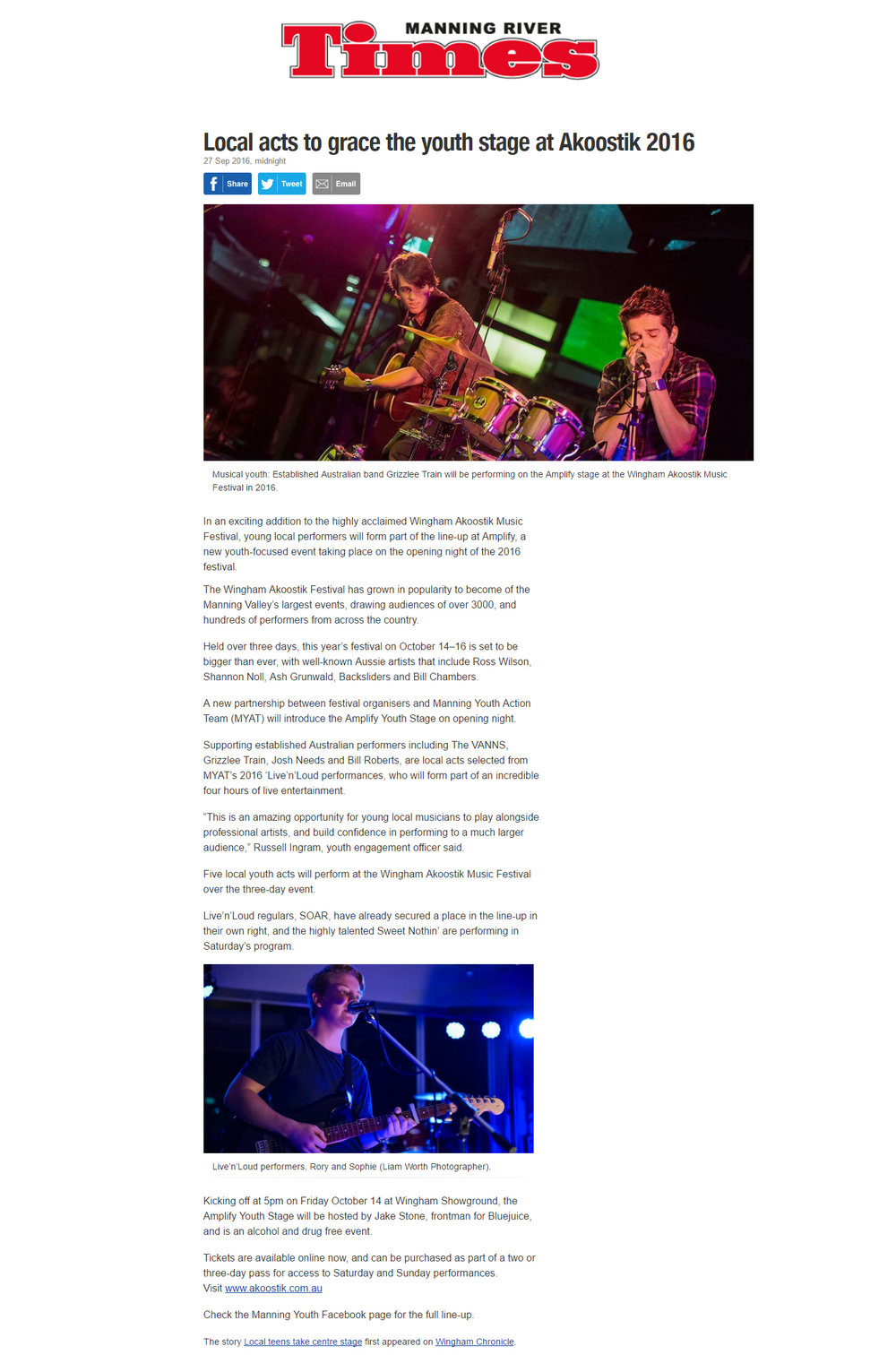 2016 Akoostik Festival Amplify Youth Stage Promotion -