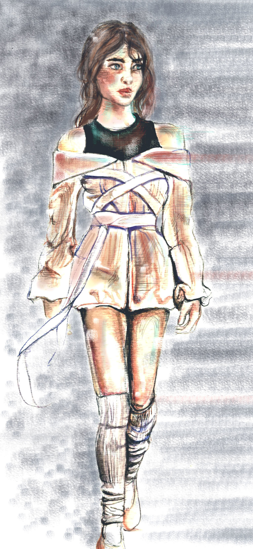 Fashion Show Review - Illustrated and Written by Krista Webster