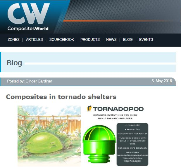 Interesting article on Composites in Tornado Shelters