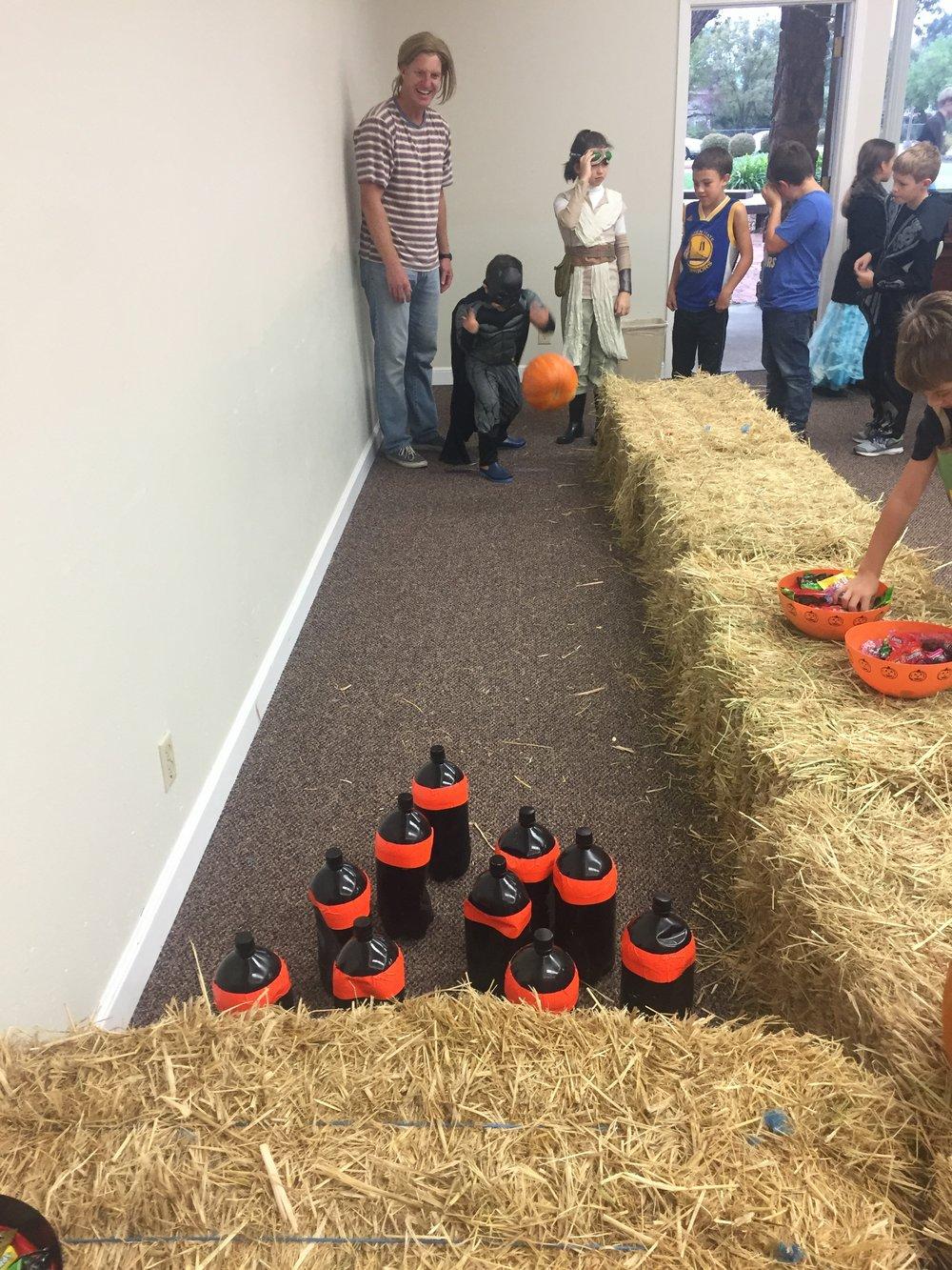 The pumpkin, unfortunately, did not survive.