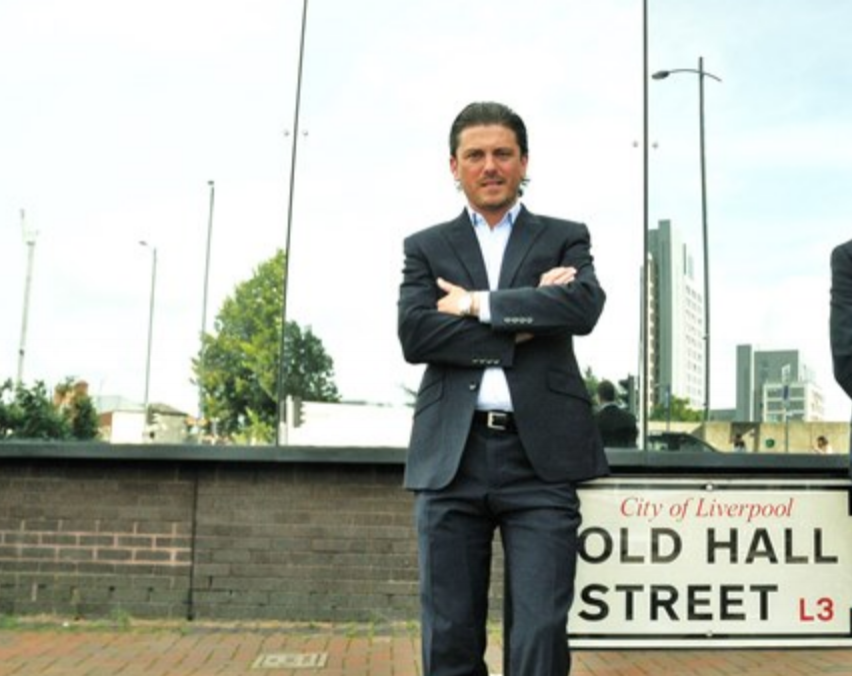 Martin Wilcocks at 122 Old Hall Street Liverpool after buying the site for £3.25 Million in April 2016. The site will house the Ovatus Towers.