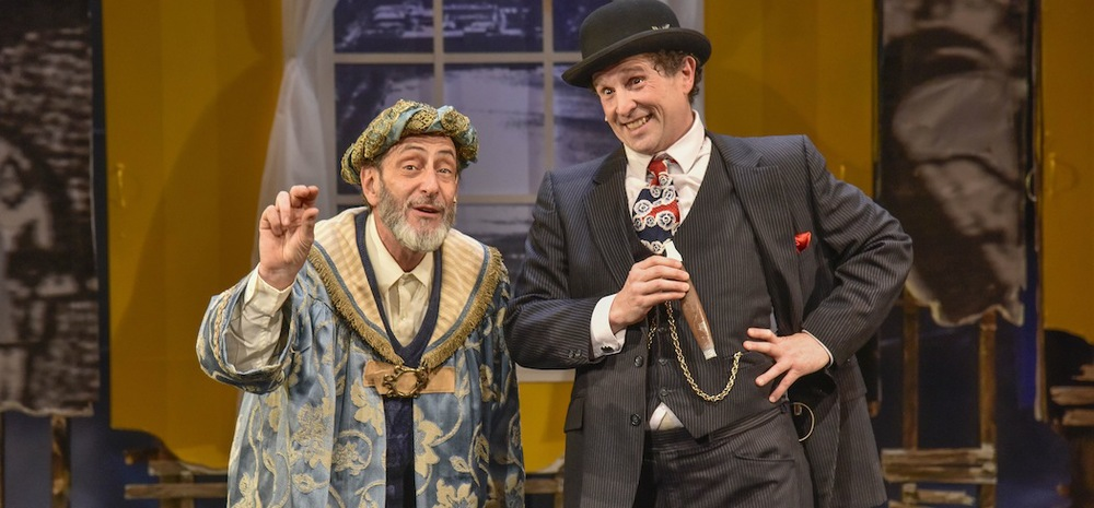 DaCosta (Will LeBow)and Joseph E. Lapidus (Jeremiah Kissel) in  The King of Second Avenue at the New Repertory Theatre. (Andrew Brilliant/Brilliant Pictures)