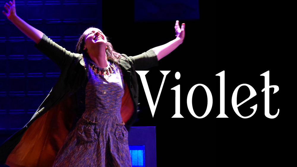 Violet Karl (Alison McCartan*) sings with hope and faith in SpeakEasy Stage Company's Violet(Photo Credit: Glenn Perry Photography) (* Denotes a member of Actors' Equity Association).