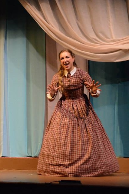 Amanda Casale as Jo in Little Women: The Musical.