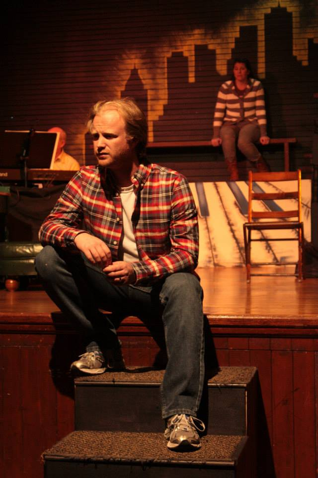 J. Parker Eldridge in Flyleaf Theatre Company's tick . . . tick . . . boom!