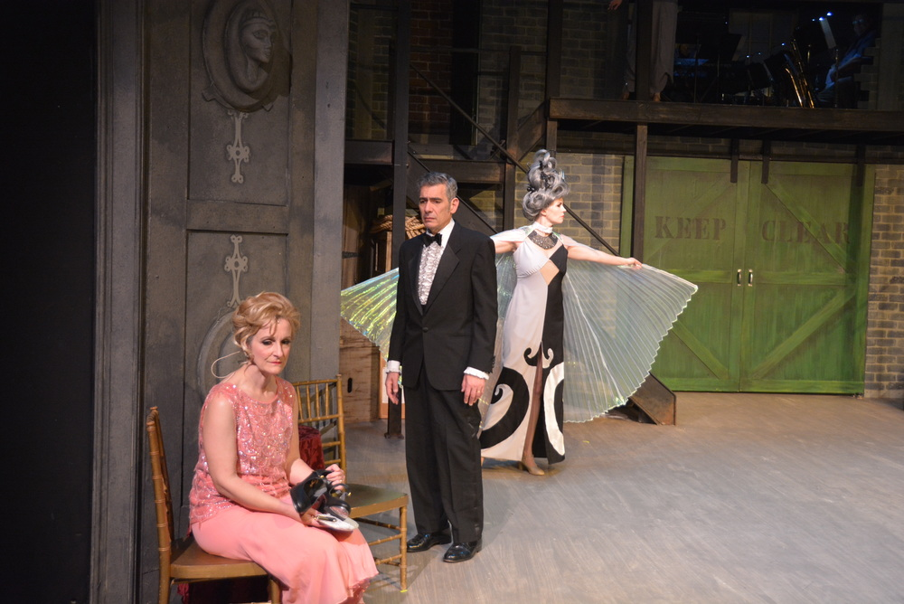 Sally Durant Plummer (Margaret McCarty) and Buddy Plummer (David Berti) in The Concord Players'  Follies .