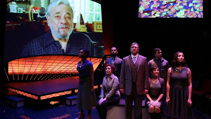 The cast of the Lyric Stage Company of Boston's  Sondheim on Sondheim  (Photo Credit: Mark S. Howard).