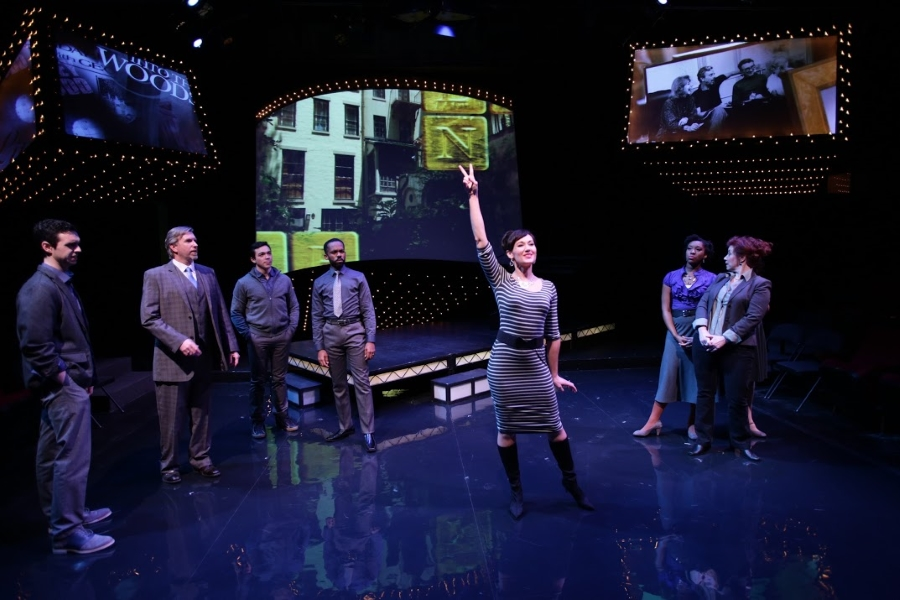 Aimee Doherty* and the rest of the ensemble in the Lyric Stage Company of Boston's  Sondheim on Sondheim  (Photo Credit: Mark S. Howard) (* Denotes a Member of Actors' Equity Association).