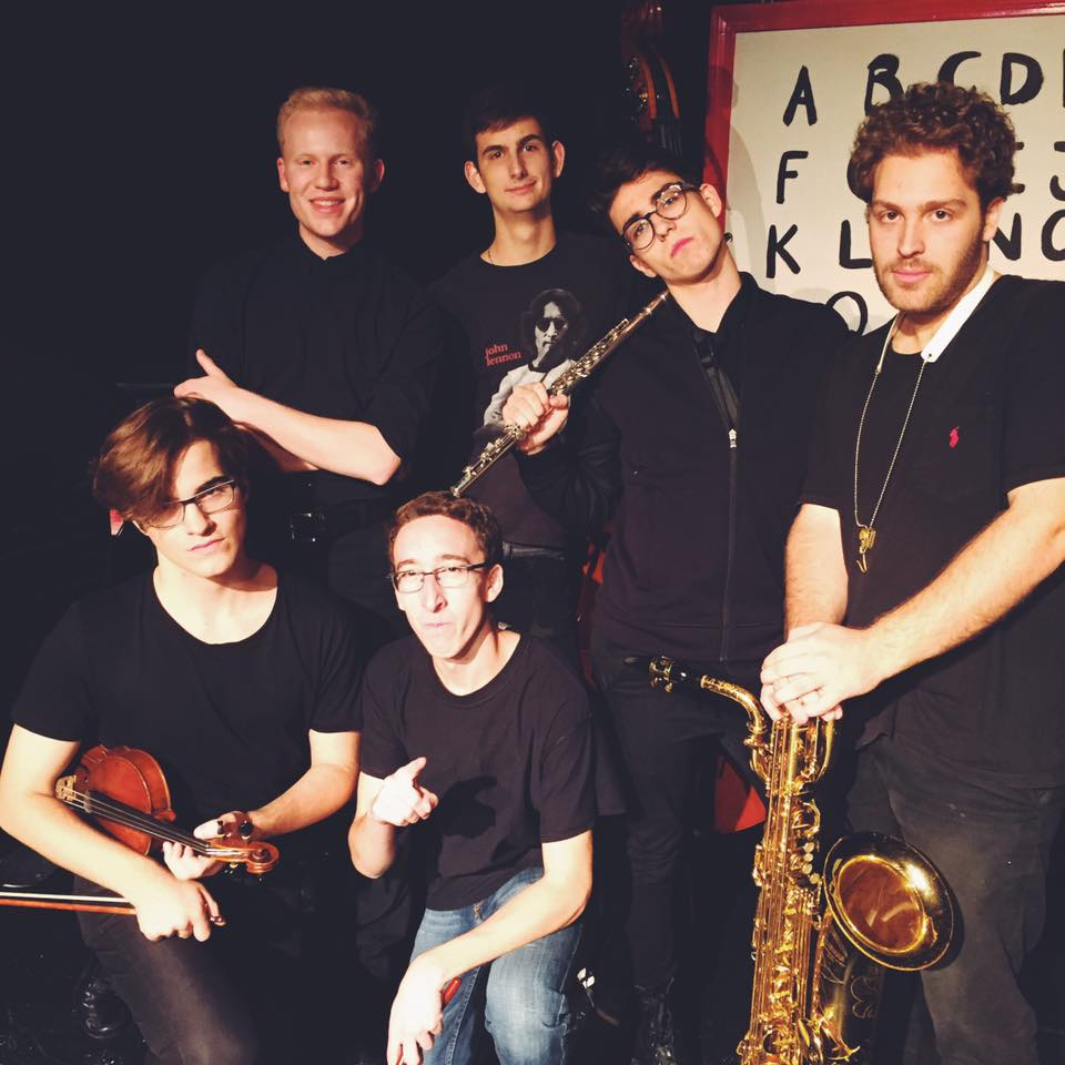 The pit musicians (including Adam Bokunewicz) for The Boston Conservatory's Shrek: The Musical.