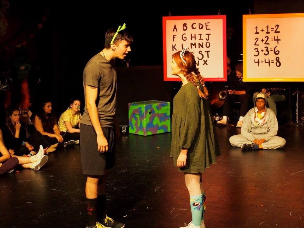 Shrek (Cody Garcia) and Princess Fiona (Carly Rose) in The Boston Conservatory's Shrek: The Musical.