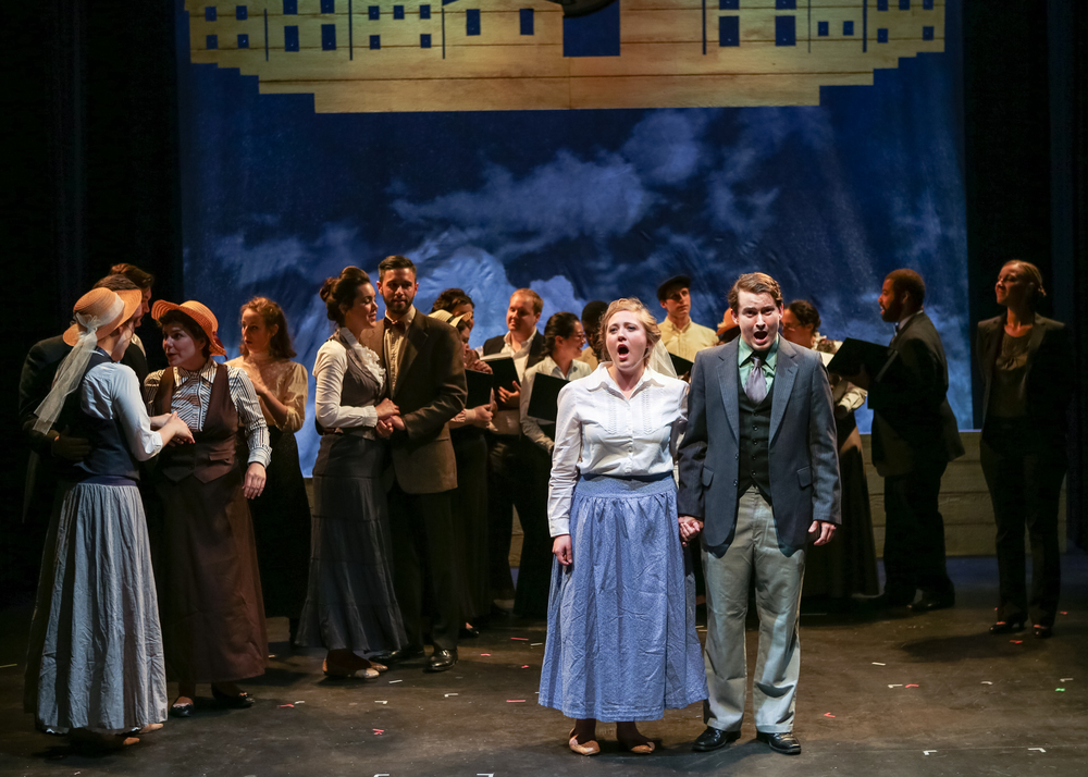 The cast of Boston Opera Collaborative's Our Town (Photo Credit: Dan Busler).