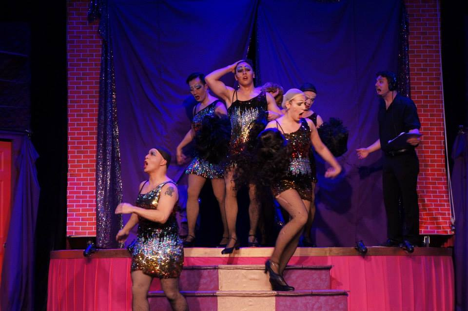 Some of the ensemble of  the Umbrella 's   La Cage Aux Folles   (Photo Credit: Al Ragone).