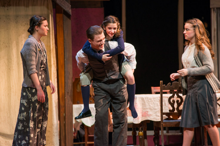 The Frank Family in The Boston Children's Theatre's  The Diary of Anne Frank  (Photo Credit: Leighanne Evelyn Photography).