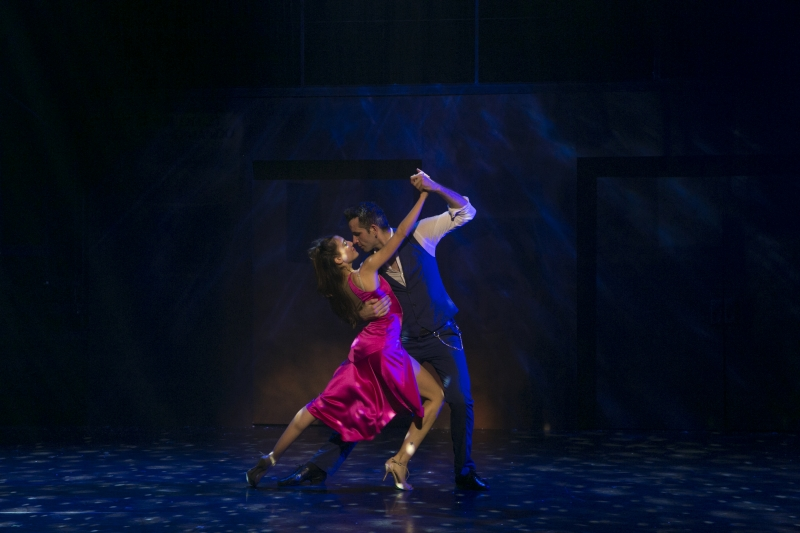 Arrabal (Michaela Spina) and Juan/Dance Captain (Juan Culpini) in  Arrabal  at the American Repertory Theatre. Photo Credit: Evgenia Eliseeva.