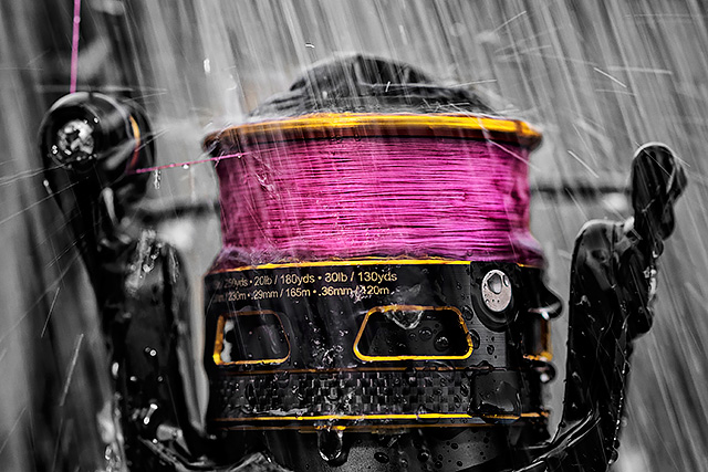 Sufix Performance Pro 8 braid on a Penn Clash spinning reel