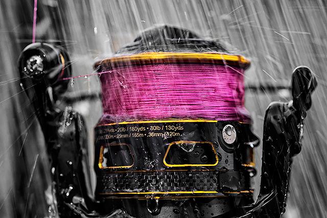 Sufix Performance Pro 8 braid on a Penn Clash spinning reel