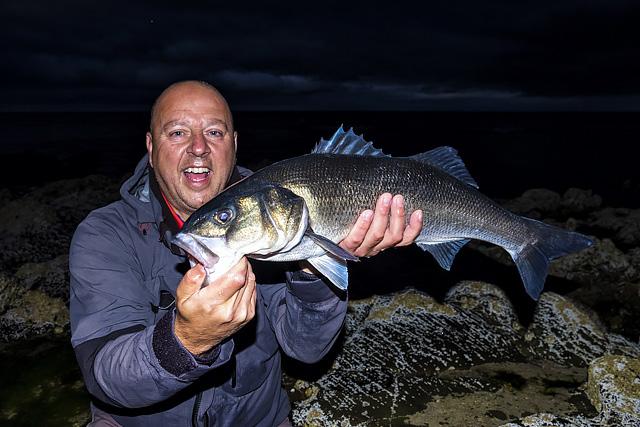Monday night, 10.30pm, 70cm bass for Mark, white senko on a straight retrieve