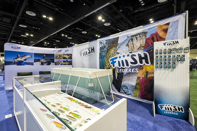 The Fiiish stand just before the iCast show opened on Wednesday morning here in Orlando