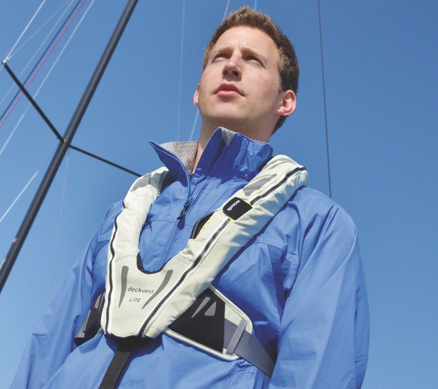 Hardly the biggest, bulkiest thing to wear - this is the Spinlock Deckvest Lite lifejacket
