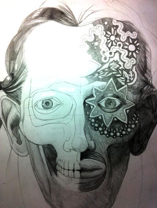 Self-portrait (daylight/darkness)