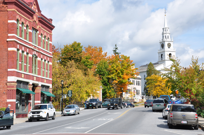Photograph of downtown Middlebury, VT