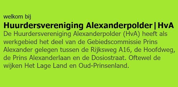 Huurdersvereniging Alexander | HvA
