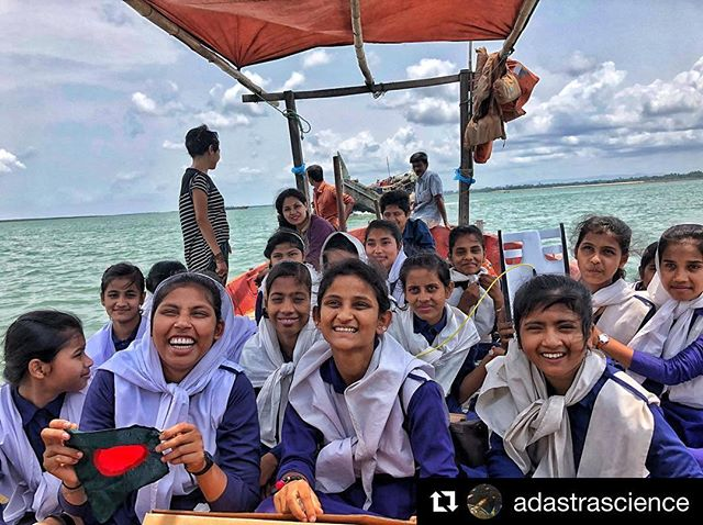 "#Repost @adastrascience: ""It's hard not to smile when you are having so much fun exploring! Check out our underwater rover from @openrov that we used to check out what was lurking beneath!"" 🙏🏾 . #stemgirls #Bangladesh #girlsinscience #adastra #oselfoundation #stem #rov #openrov @openexplorer"
