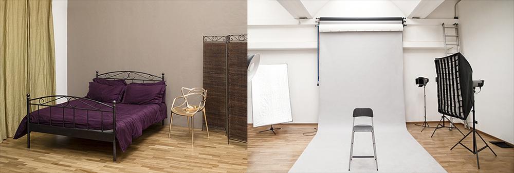 Studio fotografico Torino noleggio ambientazione