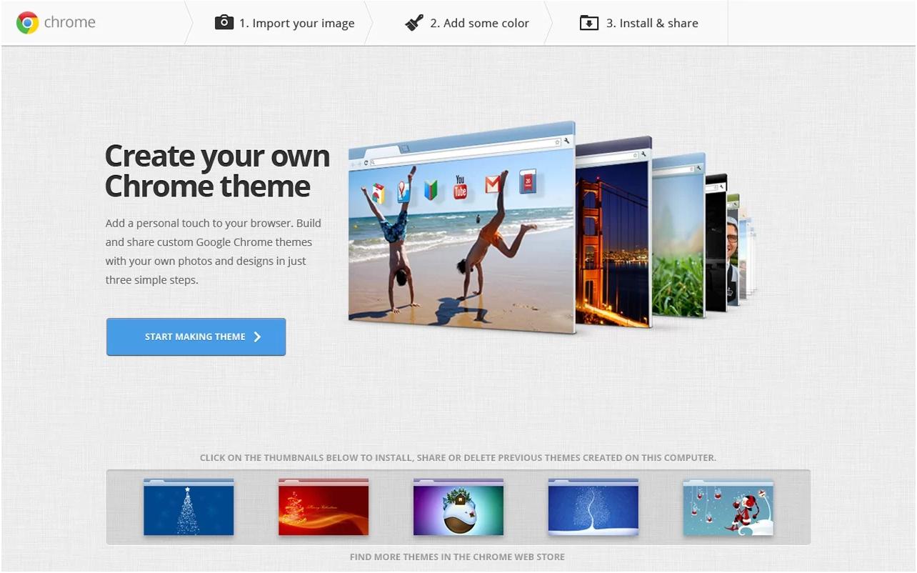 Google themes delete - My Chrome Theme