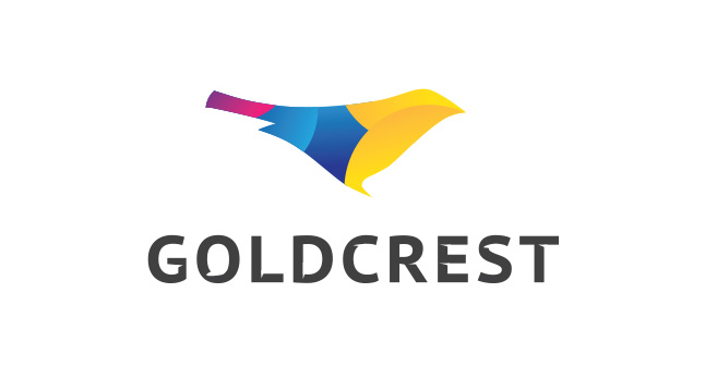 The only un-used submission on the list - Goldcrest went in favour of a different logo, but the modern direction remained.