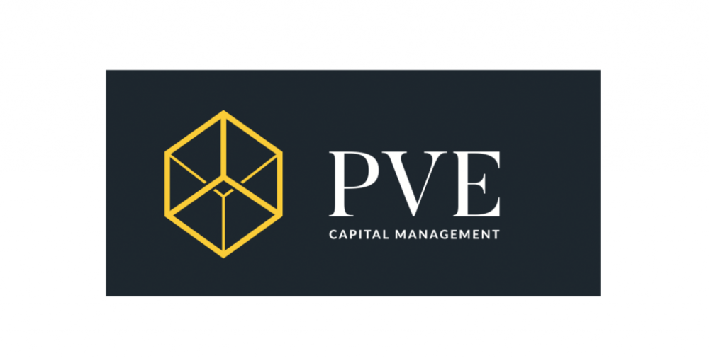 The new PVE logo on black.