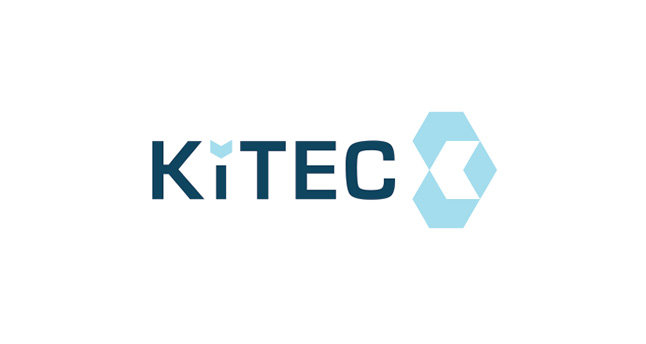 "KiTEC are part of King's College London. The brand mark is developed from an absracted ""K"". The gap from the mark is then used as the tip of the letter ""i"". It feels scientific and alludes to their problem solving forward-looking approach."