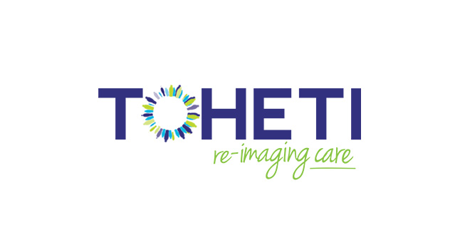 "TOHETI use the science of imaging to improve healthcare. The ""O"" is comprised of the silhouettes of people which have been blurred out. The different shapes and sizes of the people allude to the different races and sexes which they help, as well as having the appearance of both the iris of an eye, and a strand of DNA."