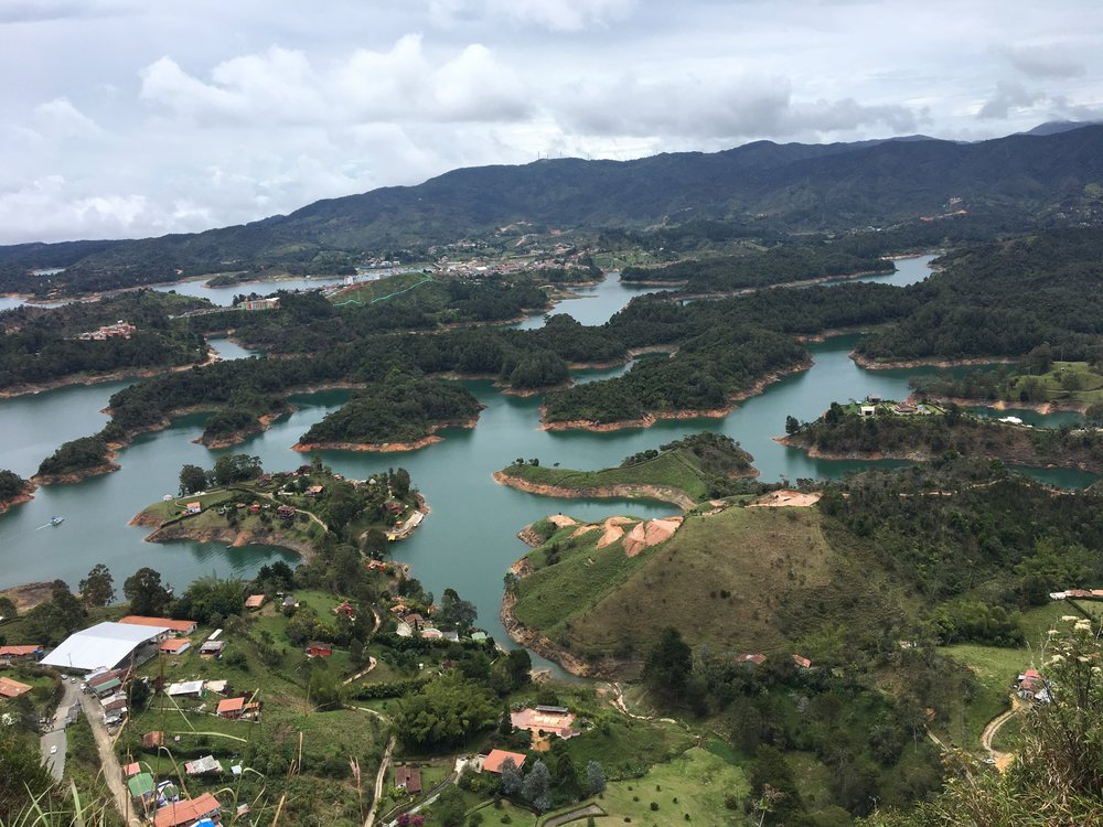 Man made lake. Penol, Colombia