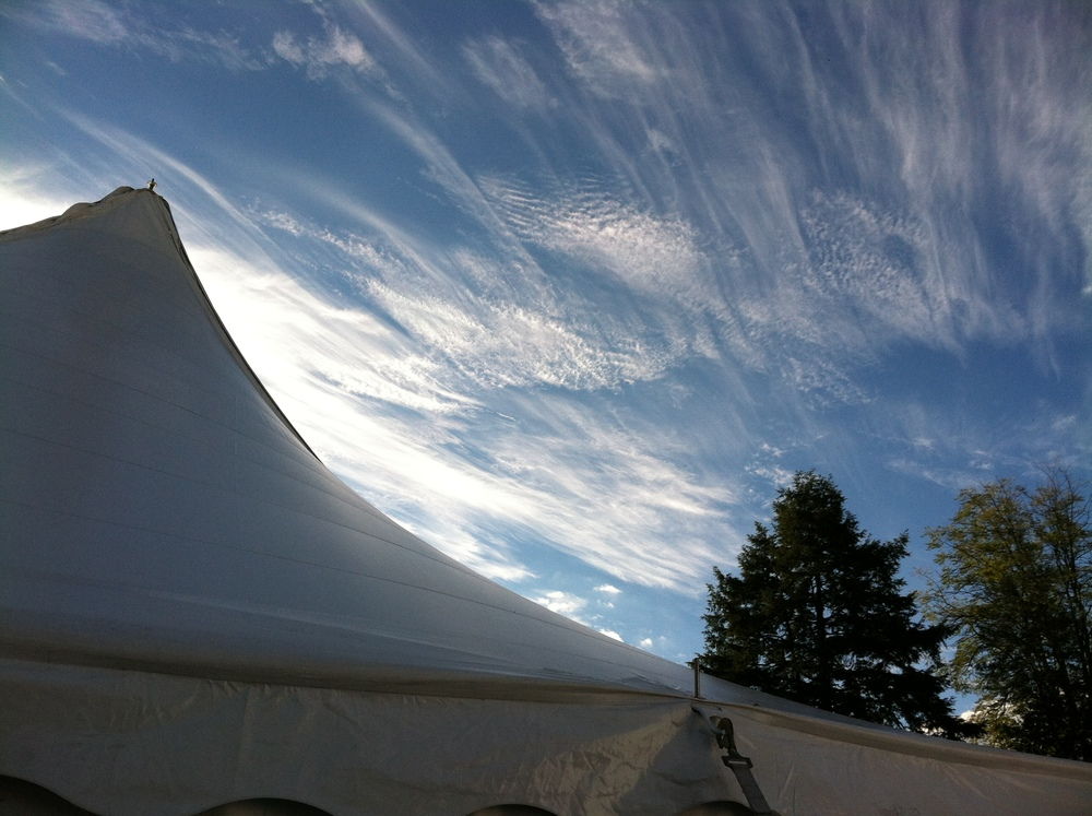 Beautiful sky and beautiful tent