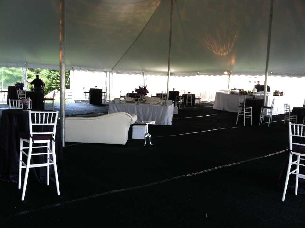 At the last minute, a cocktail tent was added due to changing weather conditions