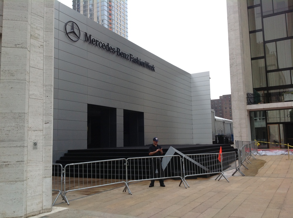 Tent Facade at New York Fashion Show